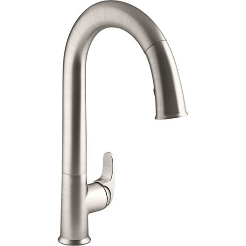 KOHLER Sensate kitchen faucet with Konnect in Vibrant Stainless