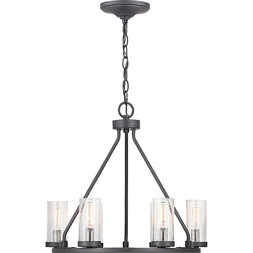 Hartwell Collection 6-light Graphite Chandelier with Nickel Accents