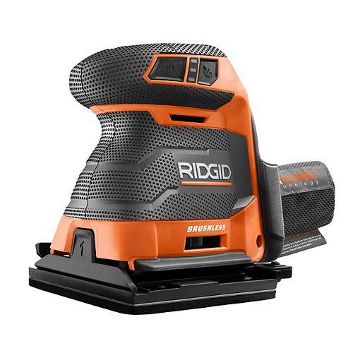 RIDGID Ponceuse sans fil 18V OCTANE 3 vitesses sans balais 1/4 de feuille