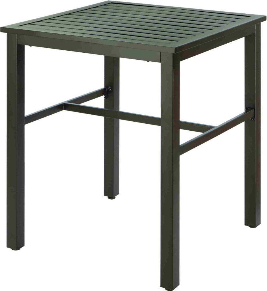 Table Pour Balcon Étroit table a lattes a hauteur de balcon - noir