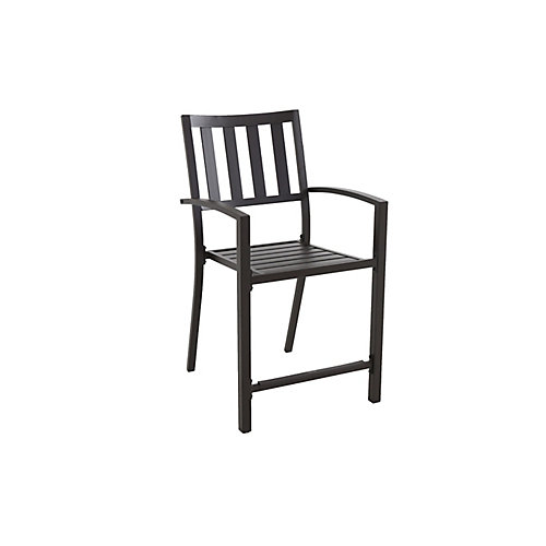 Mix & Match Stacking Slat High Dining Chair - Black Stack