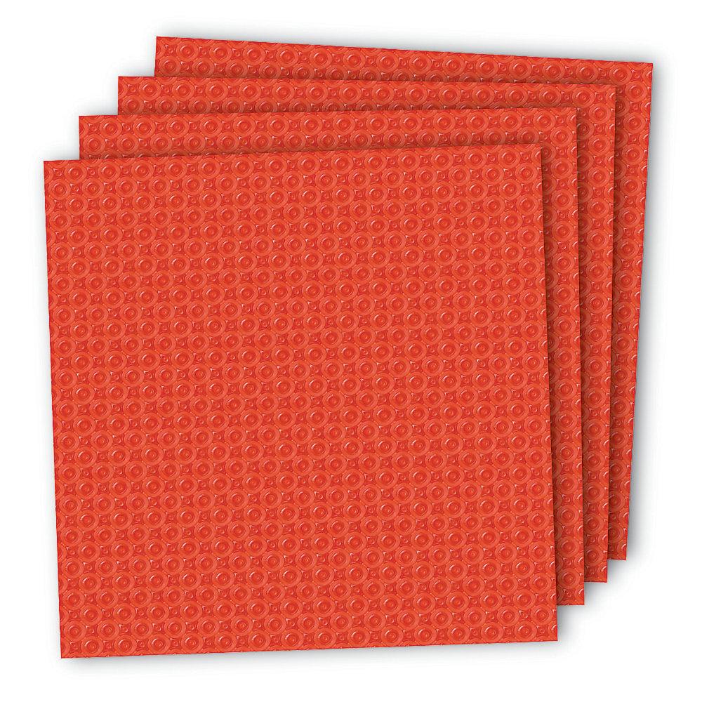 PROVA Sous-couche pour carrelage, 10 feuilles de 0.24 po d'épaisseur, 100 pi carré/bte, Fl ...