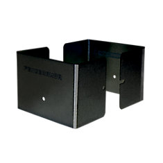 4 inch. L x 4 inch. W x 3 inch. H Black Fence Post Guard Protector for Wood or Vinyl posts.