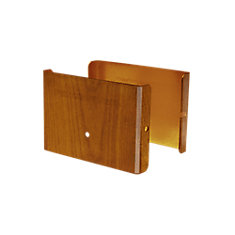 4 inch. L x 3 inch. H x .5 inch. D Redwood Demi Fence Post Guard Protector for Wood or Vinyl posts.