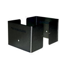 3.5 inch. L x 3.5 inch. W x 3 inch. H Black Fence Post Guard Protector for posts commonly called 4x4's.