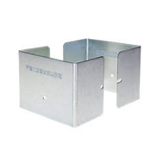 3.5 inch. L x 3.5 inch. W x 3 inch. H GALV Steel Fence Post Guard Protector  for posts commonly  4x4's.