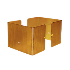 3.5 inch. L x 3.5 inch. W x 3 inch. H Redwood Fence Post Guard Protector  for posts commonly  4x4's.
