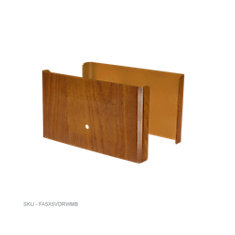 5 inch. L x 3 inch. H x .5 inch. D Redwood Demi Fence Post Guard Protector for Wood or Vinyl posts.