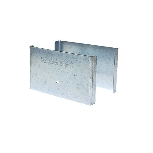 Fence Armor 4.5 inch. L x 3 inch. H x .5 inch. D GALV Steel Demi Fence Post Guard Protector for posts commonly  5x5's.
