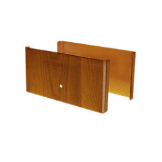 6 inch. L x 3 inch. H x .5 inch. D Redwood Demi Fence Post Guard Protector for Wood or Vinyl posts.