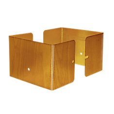 6  inch. L x 6 inch. W x 3 inch. H Redwood Fence Post Guard Protector for Wood or Vinyl posts.