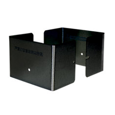 5.5 inch. L x 5.5 inch. W x 3 inch. H Black Fence Post Guard Protector for posts commonly called 6x6's.
