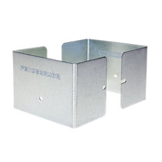 5.5 inch. L x 5.5 inch. W x 3 inch. H GALV Fence Post Guard Protector for posts commonly called 6x6's.