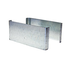 7.5 inch. L x 3 inch. H x .5 inch. D GALV Steel Demi Fence Post Guard Protector for posts commonly  8x8's.