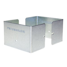 7.5 inch. L x 7.5 inch. W x 3 inch. H GALV Fence Post Guard Protector for posts commonly called 8x8's.