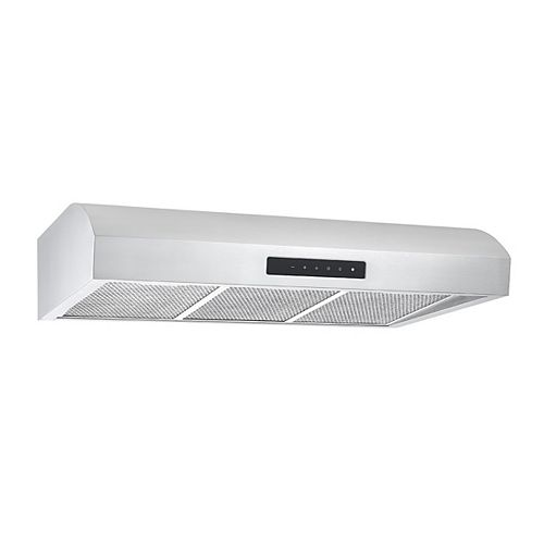 Ancona UC7 36-inch Under-Cabinet Range Hood in Stainless Steel with Night Light Feature