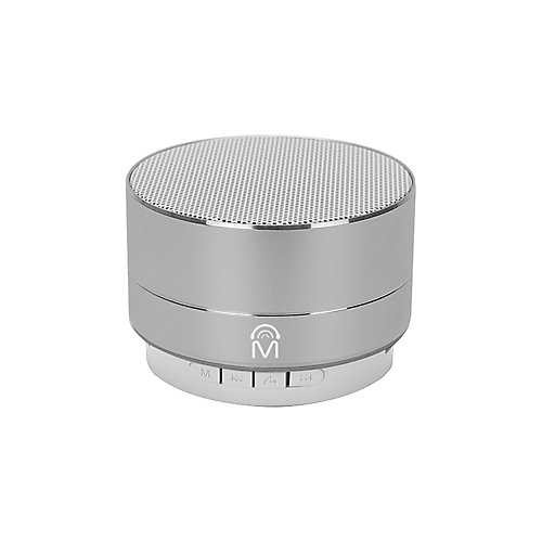"""""""Urban"""" Portable Aluminum Bluetooth Speaker with LED Lights & Hands-free calling - Silver"""