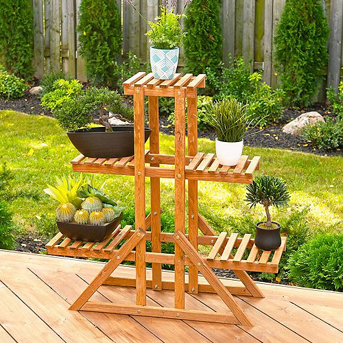 Leisure Season 3-Tier Indoor Outoor Plant Stand