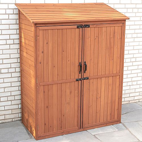 Leisure Season Storage Shed with Pull Out Crates
