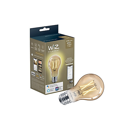 WiZ 40W A19 Dimmable Deco Vintage LED Smart Home Wi-Fi Light Bulb