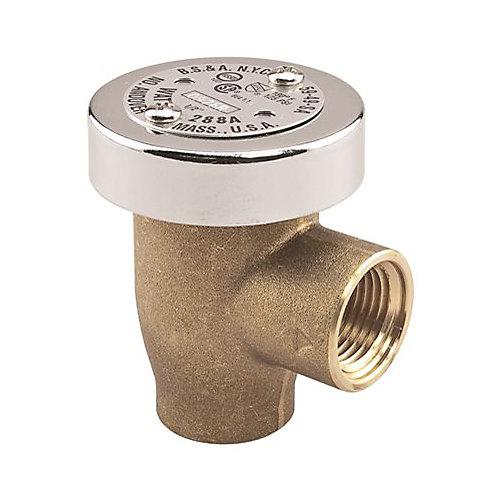 Watts Anti Siphon Vacuum Breaker,  1/2 In., Lead Free Brass