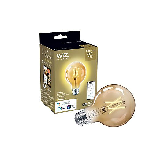 Philips WiZ 40W G25 WiFi Dimmable LED Deco Vintage Light Bulb