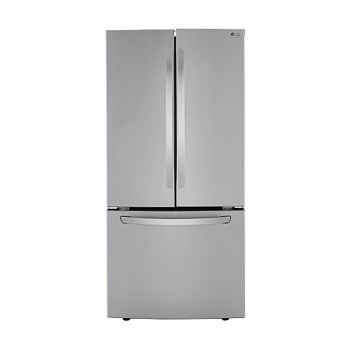 LG Electronics 33-inch W 25 cu. ft. French Door Refrigerator in Smudge Resistant Stainless Steel - ENERGY STAR®