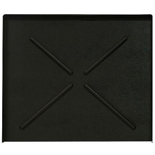 Everbilt Poêle noire pour lave-vaisselle de 24,5 po x 20,5 po