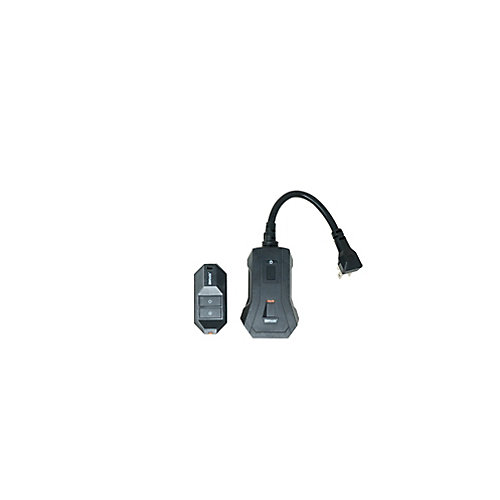 Outdoor Wireless Remote Control, 1 Grounded Outlet