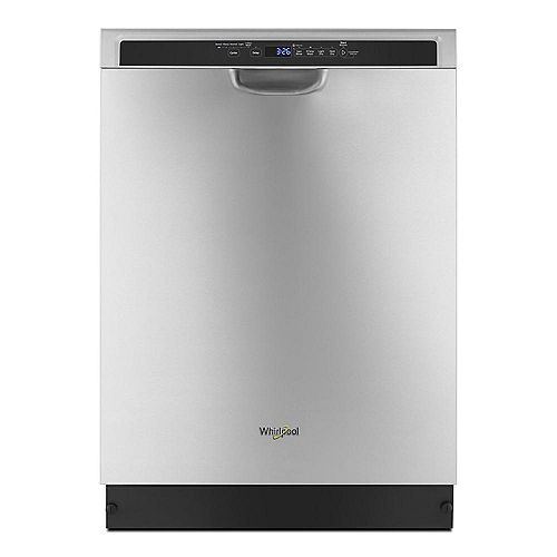 Whirlpool Front-Control Dishwasher in Stainless Steel with Stainless Steel Tub, 50 dBA - ENERGY STAR®