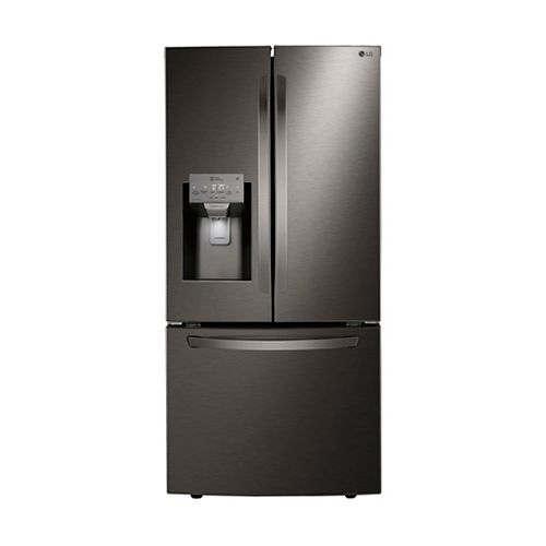 LG Electronics 33-inch W 24.5 cu. ft. French Door Refrigerator with Water & Ice Dispenser in Smudge Resistant Black Stainless Steel - ENERGY STAR®