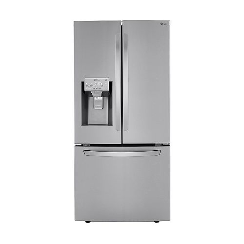 LG Electronics 33-inch W 24.5 cu. ft. French Door Refrigerator with Water & Ice Dispenser in Smudge Resistant Stainless Steel - ENERGY STAR®