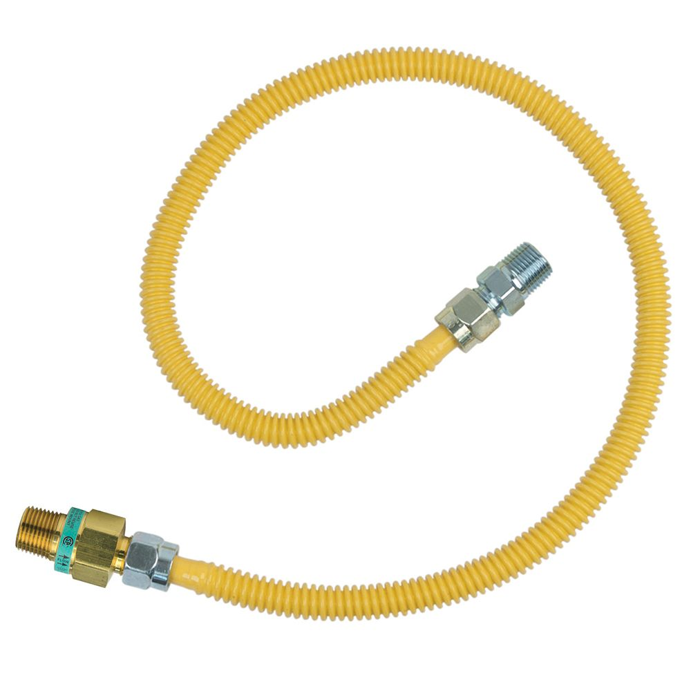 BrassCraft 36-inch Gas Connector Kit (1/2-inch O.D.) with Safety+Plus2 Thermal Excess Flow Valve (71,100 BTU)