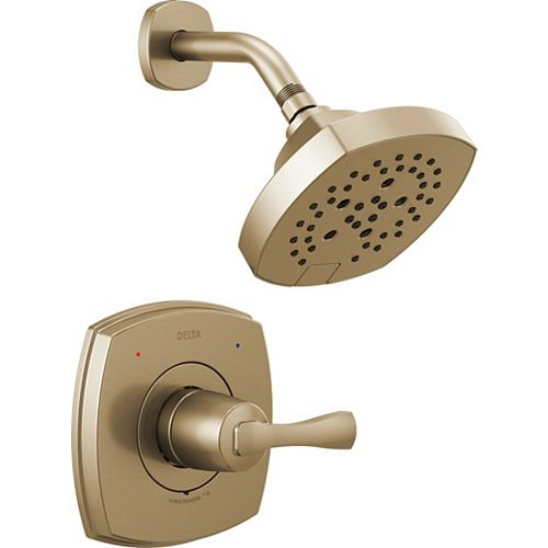 Delta Stryke 14 Series Shower Only Trim in Champagne Bronze (Valve Sold Separately)