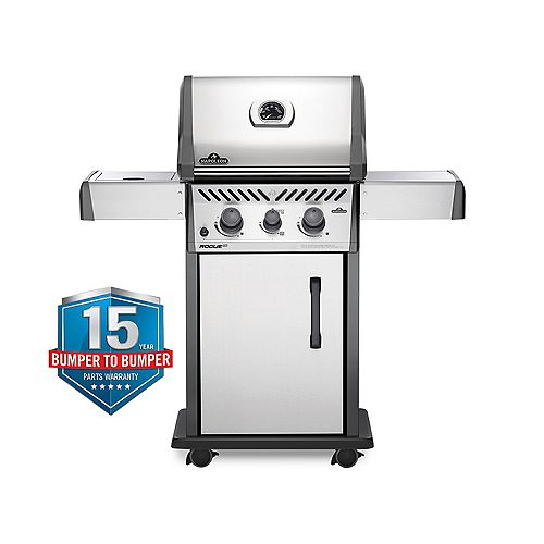 Napoleon Rogue-XT 365 2-Burner Natural Gas Grill in Stainless Steel with Infrared Side Burner