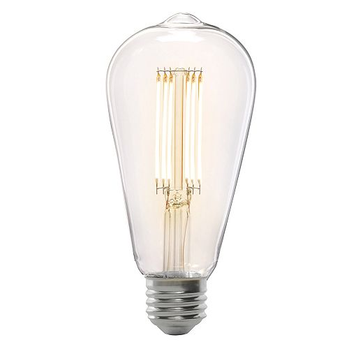 Feit Electric 75W Eq ST19 Soft White (2150K) Dimmable Clear Stick Filament Vintage Style LED