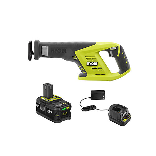 18V ONE+ Cordless Reciprocating Saw Kit with (1) 4.0 Ah Lithium-Ion Battery and Charger