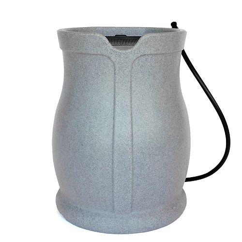 FCMP Cataline 170 L Rain Barrel, Light Granite