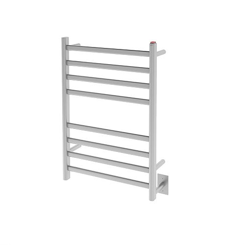 Ancona Prima Dual Extended 8-Bar Hardwired and Plug-in Electric Towel Warmer in Brushed Stainless Steel