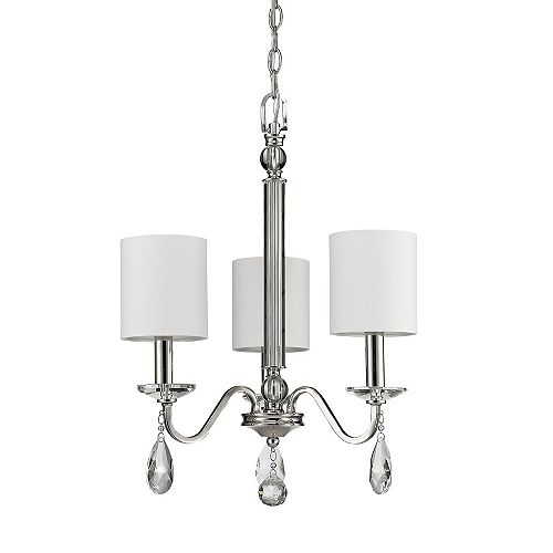 Acclaim Lily 3-Light Chandelier w/K9 Crystal Pendants & Bobeches