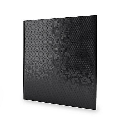 Dosseret auto-adhésif Hexagonia SB 29,6 po x 30,5 po x 5 mm, métal, acier inoxydable noir