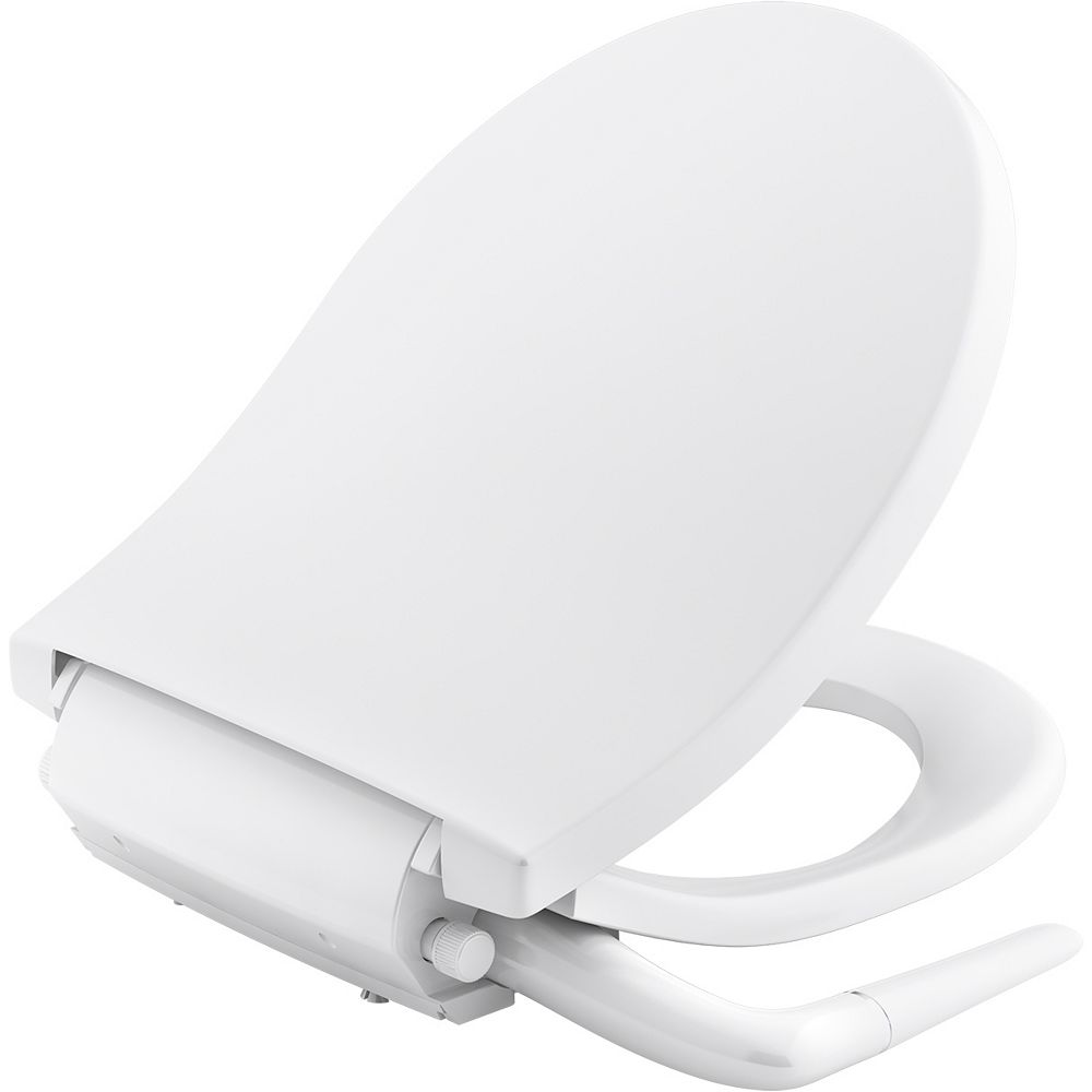 Puretide Manual Cleansing Toilet Seat, Round In White