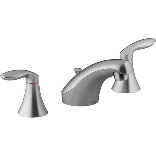 Coralais Widespread Bathroom Sink Faucet With Lever Handles In Brushed Chrome