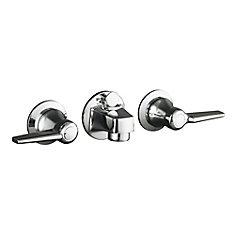Polished Chrome 2-Handle Bathroom Sink Faucet (Drain Included)