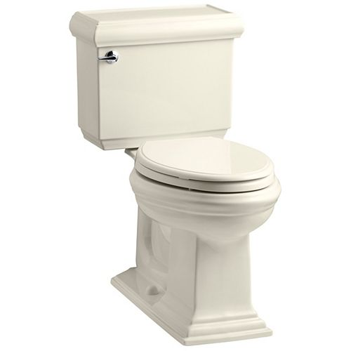 KOHLER Memoirs 1.6 Almond Elongated Chair Height 2-Piece Toilet