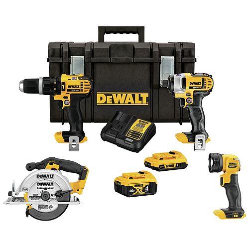 DEWALT 20V MAX 4-Tool Tough System Combo Kit