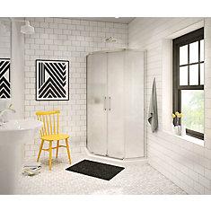 Radia 36-inch x 36-inch x 72-inch Framed Neo-Angle Sliding Shower Door in Nickel Mistelite
