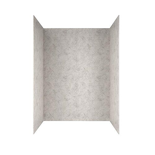 American Standard Passage 32 in. x 60 in. 4-Piece Glue-Up Alcove Bath Wall in Platinum Marble