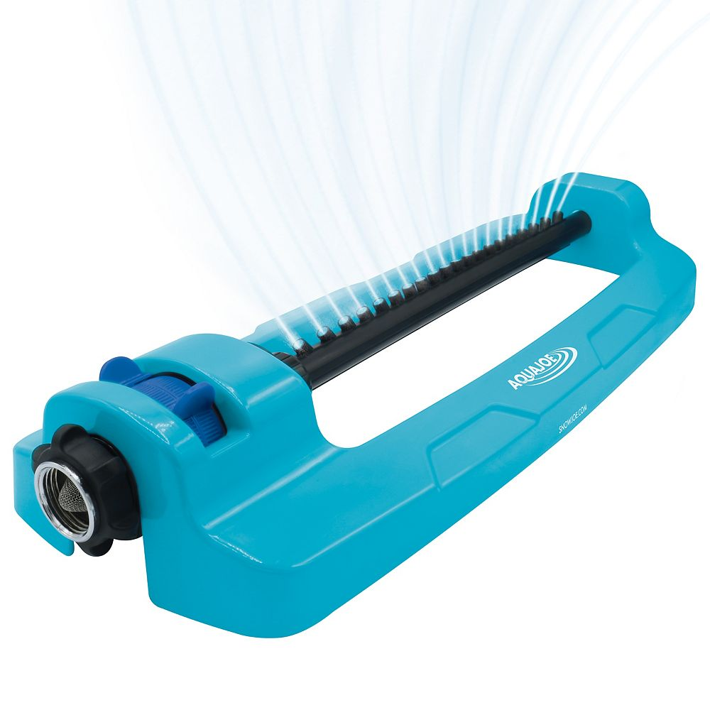 Snow Joe Aqua Joe SJI-OMS20 Indestructible Jumbo Metal Base Oscillating Sprinkler  4,400 Sq Ft Coverage
