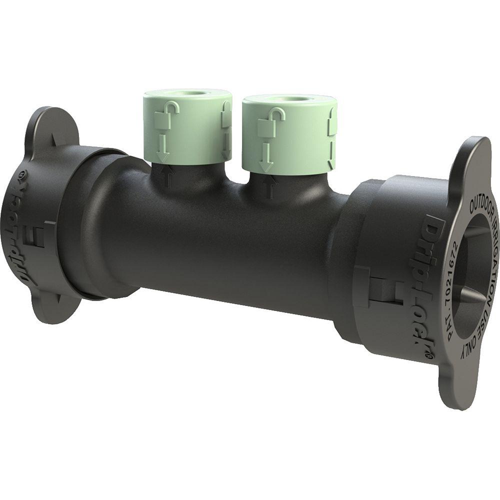 Orbit 2-Port Full-Flow Inline Drip-Lock Manifold